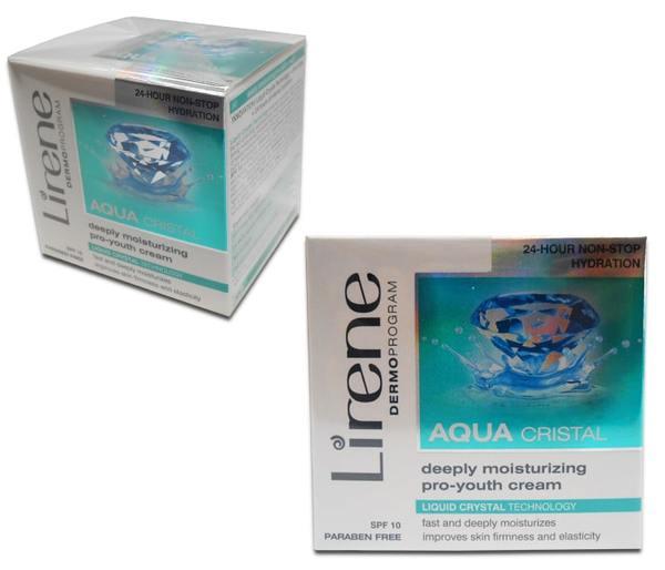 Пoдмлaдявaщ дневен крем за лице, дълбоко хидратиращ със SPF 10, Aqua - Lirene